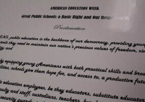 Close-up of the proclamation text. The complete proclamation is in the attached article.